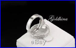 1.20ct White D/VVS1 Diamond Bridal Set Engagement/Wedding 10k White Pure Gold