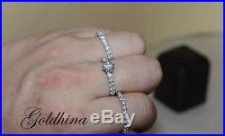 10K White Pure Gold 1.6CT Diamond Engagement Ring Wedding Trio Set For His & Her