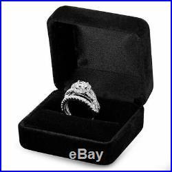 10k Real White Pure Gold White Diamond Ladies Engagement Ring Set 2.00 Carat