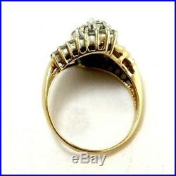 14k Pure Gold Art Deco Revival Ring withDiamond Set