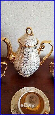 15 piece Gold and Porcelain Haus Frank Bavaria tea set, perfect condition