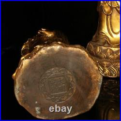 18 a set China Gold plating of pure copper The three saints of the West statue