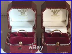18ct Pure (100% welsh gold) wedding ring set (AUR CYMRU) PX