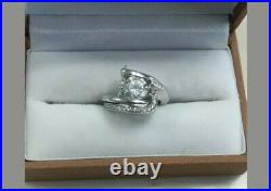 18kt White Gold Wedding Set- Claude Thibaudeau Pure Perfection Line- BEAUTIFUL