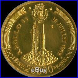 1969 Apollo 11 Coin Rare Gem Set-5 Coins-4 Ounces Pure Gold-ngc Slabbed W Case