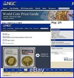 1969 Apollo 11 Gold Coin Rare Gem Set-5 Coins 4 Ounces Pure-ngc Slabbed W Case
