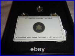 1979-2004 An Era of Triumph 25th Anniversary Pure Gold Maple Leaf 6 Coin Set