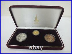 1980 Moscow Olympics Commemoration Gold Silver Bronze Medal Types Set K24 Pure