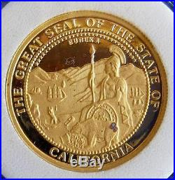 1987 California Solid Gold Coin Set. 999 1.85oz Pure American Gold
