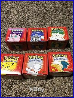 1999 Pokemon Burger King 23k Gold Cards Complete Set Of 6 Rare Red Boxes PERFECT