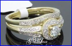 2.40ct Yellow D/VVS1 Diamond Bridal Set Engagement/Wedding Ring 14k Pure Gold