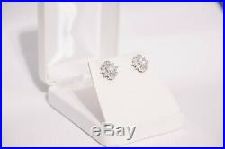 2 Carat Lab Diamond Earrings Set In 14k White Gold (Perfect Condition with Box)