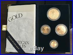 2000 American Eagle Gold Bullion Coins Proof Set 1.85oz 99.9% pure gold with COA