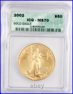 2002 US Gold Eagle 4 Coin Set ICG MS70! Ultra-Rare set all graded Perfect Gem