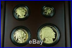 2008-W Buffalo 4 Coin 9999 Pure Gold Proof Coin Set in Box with COA