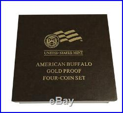 2008-W Buffalo 4 Coin. 9999 Pure Gold Proof Coin Set in Box withCOA