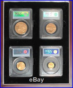 2008-W Burnished American Gold Eagle Set PCGS MS-70 Perfect Set