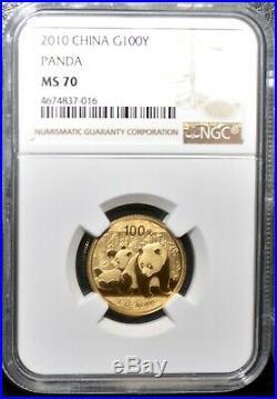 2010 China Gold Panda Mint Set NGC/NCS MS70 Perfect Set & Rare
