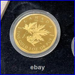 2012 Canada 5 Nines Pure. 99999 Gold Coin Fractional Set 1.44oz