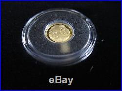 2012 GOLD PROOF SET MINIATURE PURE GOLD DECIMAL set ROYAL AUSTRALIAN MINT