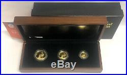 2013 Gold Proof Britannia Premium Sovereign type Set 1/2, 1/4, 1/10 Oz Pure Gold