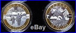2013 O CANADA GOLD PLATED Set of 12-$10 99.99 PURE SILVER COINS withWooden Box