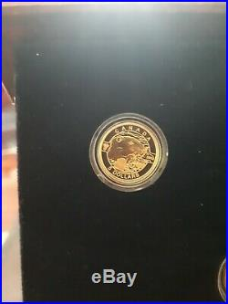 2013 O Canada 5 Pure Gold Coin Set with Wooden Maple Leaf Box & Certificates