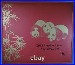 2013 Prestige Panda First Strike 6 Coin Set 1.9 OZ Pure Gold PCGS MS70