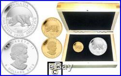 2013 Pure $10 Gold And $8 Silver 2-coin Set Polar Bear (13326)