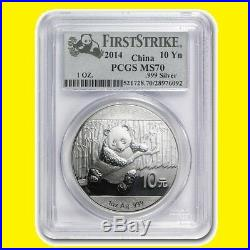 2014 CHINA PURE GOLD&SILVER PANDA 6 COINS SET PCGS MS 70 FIRST STRIKE gauranteed