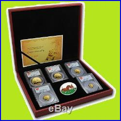 2014 China 1.9 Oz Pure Gold Panda Prestige 6 Coins Set Pcgs Ms 70 First Strike