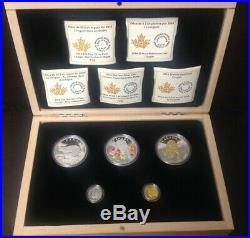 2014 Cougar 5-Coin Pure GOLD, PLATINUM and SILVER Set reduced price