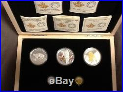 2014 Cougar 5-Coin Pure Gold, Platinum and Silver Set