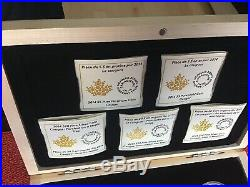 2014 Cougar 5-coin Pure Gold, Platinium and 3 Silver Set