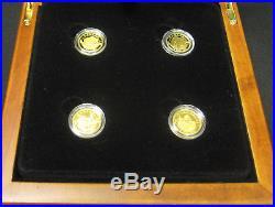 2014 O Canada $5 Pure Gold 4-coin Set in Case with COAs