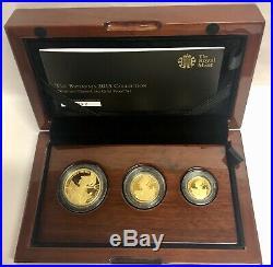 2015 Gold Proof Britannia Premium Sovereign type Set 1/2, 1/4, 1/10 Oz Pure Gold