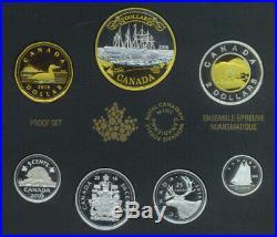 2016 Canada 150th Anniversary Transatlantic Cable Pure Silver Gold Proof Set COA