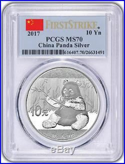2017 China 3 Oz Pure Gold&silver Panda 6 Coins Set All Pcgs Ms 70 First Strike
