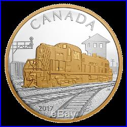 2017 Locomotives Across Canada SET of 3 X GOLD Plated 1 oz Pure SILVER $20 Coins
