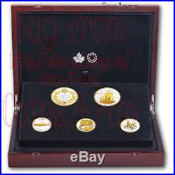 2018 Legacy of the Dime Pure Silver Gold Plated Proof Coin Set Canada