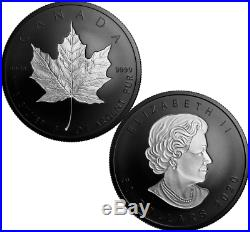 2020 Pure Gold & Silver Maple Leaf Rhodium-Plated Proof 3-Coins $200 $50 $20 Set