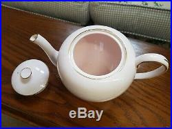 21 piece Tuscan tea set with teapot, Baby Pink and gold trim, perfect