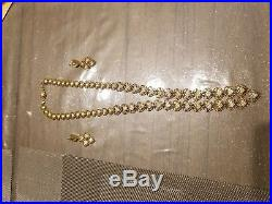 21K Gold Necklace & Earrings beautiful set 48grams 21KT Pure 2 PIECE SET