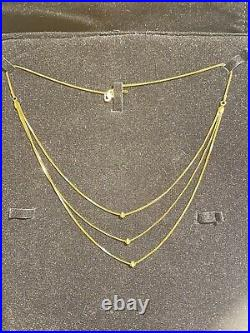 22K (Hallmark 916) PURE SOLID GOLD NECKLACE SET CHAIN AND PENDANT