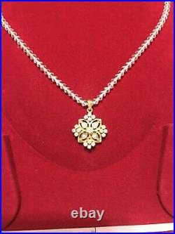 22K Solid Yellow Gold Pendant Earrings Set 12.9 Grams 22KT Pure Locket set