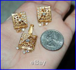 22K Solid Yellow Gold Pendant Earrings Set 5.3grams 22KT Pure 3 PIECE SET