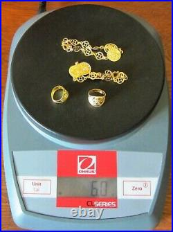 24K pure Gold Korean. 999 Dol Doljanchi Dohl tol Bullion baby set 2000 jewelry