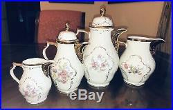 26 Piece Rosenthal Sanssouci Diplomat Tea Set Gold Lined Cups PERFECT