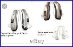 2x Signia Siemens Pure 7Nx Hearing Aids You Pick 312,13, Cros Charge&Go RIC Set