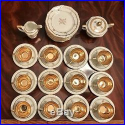 38 Piece Rosenthal Maria Dessert Set Gold Lined Cups PERFECT! Coffee Tea